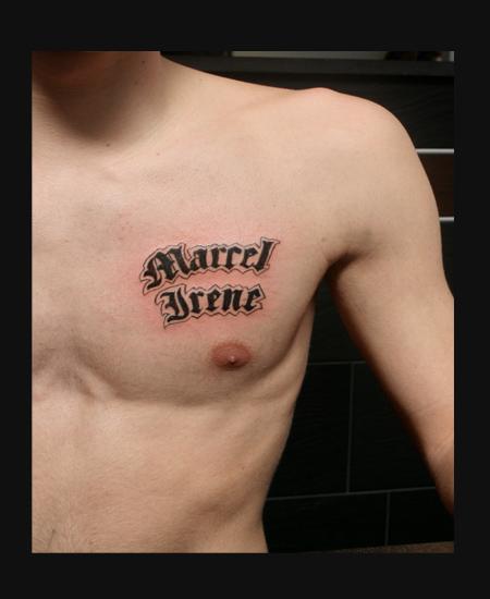 Marcel Hinzen als tattoo